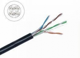 CAT5E FTP, ITD,24AWG,0.50MM,Copper 100%,4PAIRS, OUTDOOR (305m) W