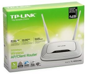 ქსელის გამანაწილებელი – TL-WR843ND,TP-Link, 300Mbps Wireless AP/