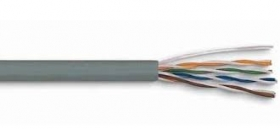 კაბელი - UTP CAT5E 24AWG CCA Grey 305m